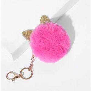 Accessories - 🎉HP 5/23/20! Kitty Pom Pom Keychain